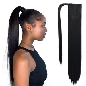 20 Inch Clip in Ponytail Extension Wrap